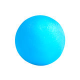 3d skrivev ut modellen av sfären från blå skrivarglödtråd Isolerat på vit Arkivbilder