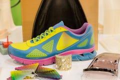 3d skrivev ut skon på teknologinavet i Milan, Italien Royaltyfri Bild