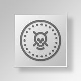 3D Skull Coin icon Business Concept Stock Photography