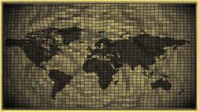 3d skutka czarny i biały antykwarska światowa mapa Fotografia Stock