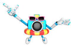 3d sky blue Camera Character dip tube ride. Create 3D Camera Rob Stock Photography