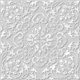 3D skyler över brister blomman för korset för vinrankan för konstmodellen den botaniska spiral Royaltyfri Fotografi