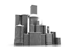3d skyline city Stock Image