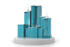 3d   skyscraper building Royalty Free Stock Photo