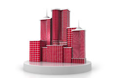 3d   skyscraper building Royalty Free Stock Image