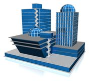 3d  Skyscraper Royalty Free Stock Image