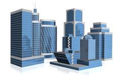 3d  Skyscraper Stock Images