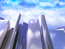 3d skyscrapers Royalty Free Stock Images