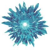 3d slösar crystal isolerad blomma- eller snöflingaform Royaltyfri Bild