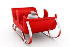 3d sleigh concept Royalty Free Stock Images