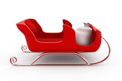 3d sleigh concept Royalty Free Stock Image
