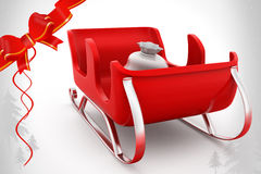 3d sleigh illustration Royalty Free Stock Photo