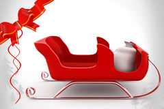 3d sleigh illustration Royalty Free Stock Images