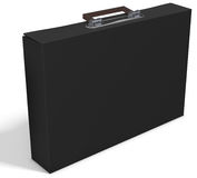 3d slim briefcase. On white background 3D illustration Stock Photo