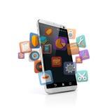 3D slimme telefoon Royalty-vrije Stock Afbeeldingen