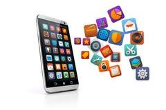 3D slimme telefoon Stock Afbeeldingen