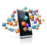 3D slimme telefoon Stock Foto