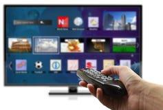 3D slimme TV Stock Afbeeldingen