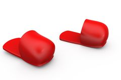 3d slipper concept Stock Photo