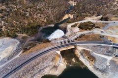 D SM Jindab Dam Top Down stock image
