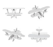 3D Small airplane icon. 3D Icon Design Series. Royalty Free Stock Photo