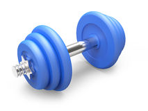 3d Small blue weights Stock Photography
