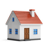 3d small house. Isolated white background with clipping path Stock Photo