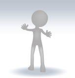 3d small man waving hand. EPS 10 Vector Illustration of 3d small man waving hand Stock Photos