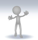 3d small man waving hand Stock Images