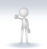 3d small man waving hand Royalty Free Stock Photography