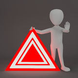 3D small people - Emergency sign. Royalty Free Stock Photography