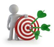 3d small people - goal and target shot Stock Photos