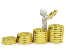 3d small people - increases profits. Stock Photography