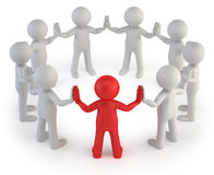 3d small people - leader Stock Image