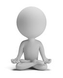 3d small people - meditation pose Royalty Free Stock Image