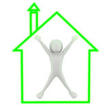 3d small people - My house! Stock Images