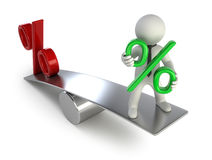 3d small people - payments on deposits Stock Photography