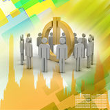 3d small people. Social network concept Stock Images