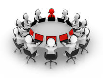 3d small people. Support team. Stock Image