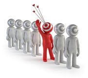 3d small people - target audience royalty free stock images