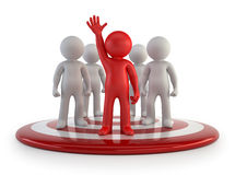 3d small people - team leader Royalty Free Stock Images