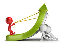 3d small people - teamwork and profit Stock Photos