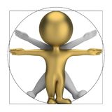 3d small people - vitruvian man Stock Images