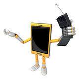 3D Smart Phone Mascot just calls me back when you have more time Stock Images