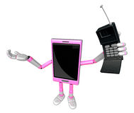 3D Smart Phone Mascot just calls me back when you have more time Royalty Free Stock Images