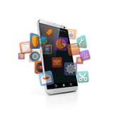 3d smart phone Royalty Free Stock Images