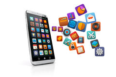 3d smart phone Stock Images