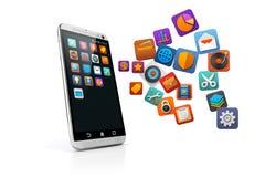 3d smart phone Stock Photography