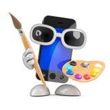 3d Smartphone älskar konst Arkivbild