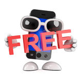 3d Smartphone è libero Fotografia Stock